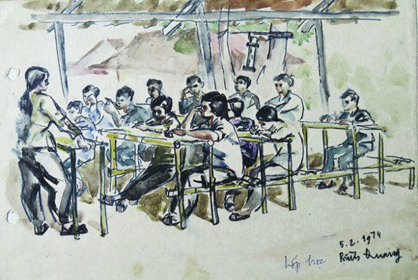 Tác phẩm hội họa của sinh viên trường ĐH Mỹ thuật TP HCM