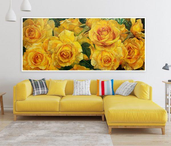 Mẫu tranh sơn dầu hoa đẹp